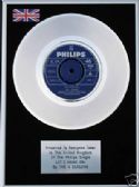 "FOUR SEASONS - 7"" Platinum Disc - LETS HANG ON"